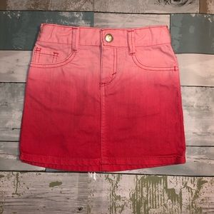 Gymboree Toddler Girls Pink Ombré Jean Skirt 4
